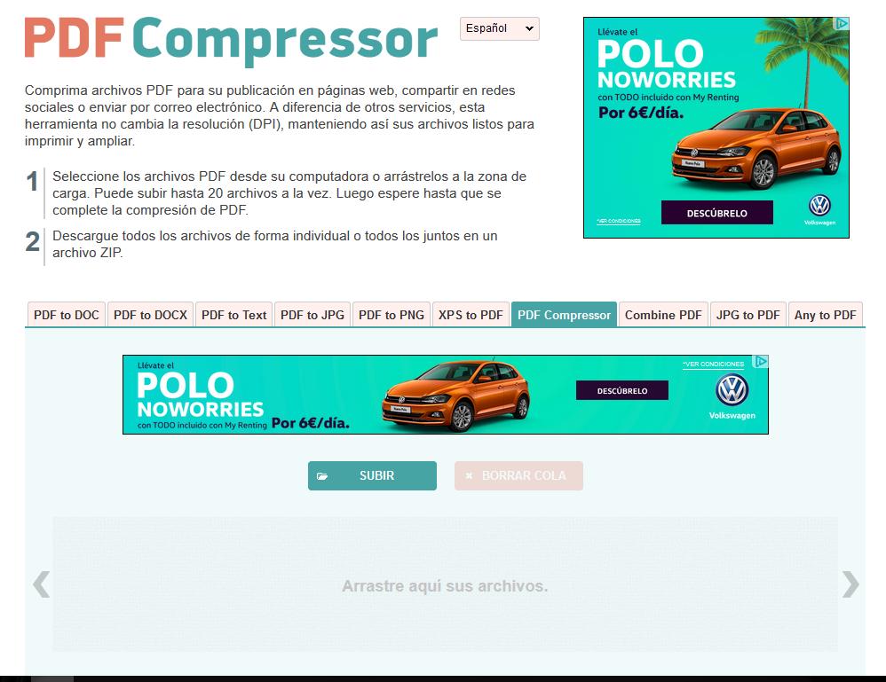 comprimir pdf compressor